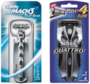 The world's first 4-bladed razor posed a huge threat to Gillette.