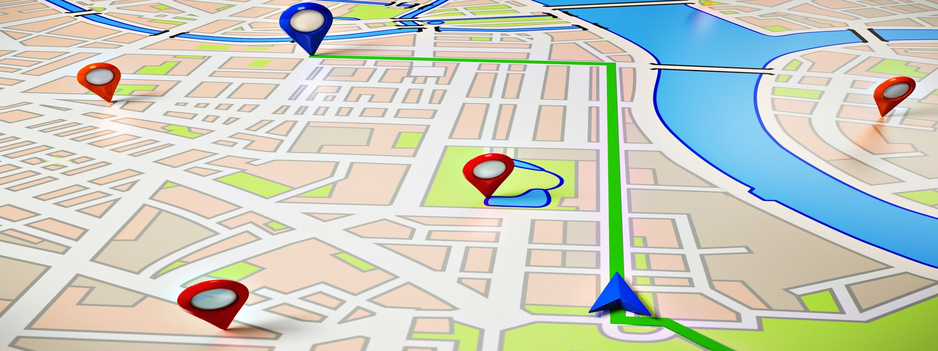 GPS map for slide show